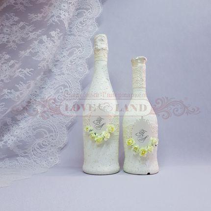 Декор свадебных бутылок - артикул 10