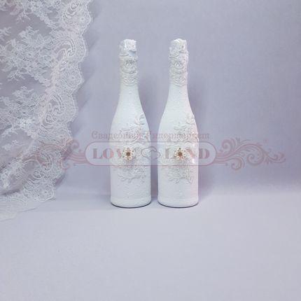 Декор свадебных бутылок - артикул 01