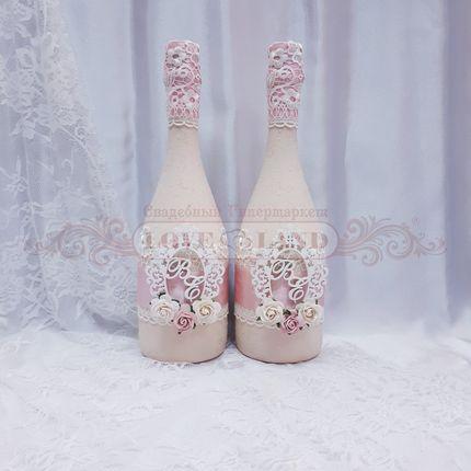 Декор свадебных бутылок - артикул 09