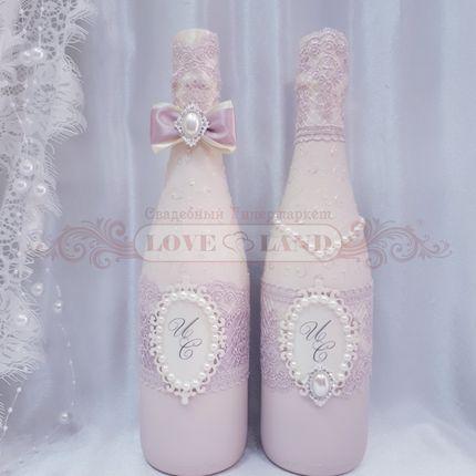 Декор свадебных бутылок - артикул 16