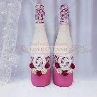 Декор свадебных бутылок - артикул 18