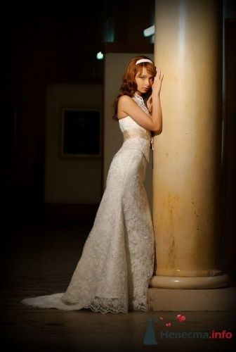"""Восхитительное платье с отстёгивающимся шлейфом 18000 руб. - фото 3576 """"Svadbasale"""" - свадебные, вечерние платья"""