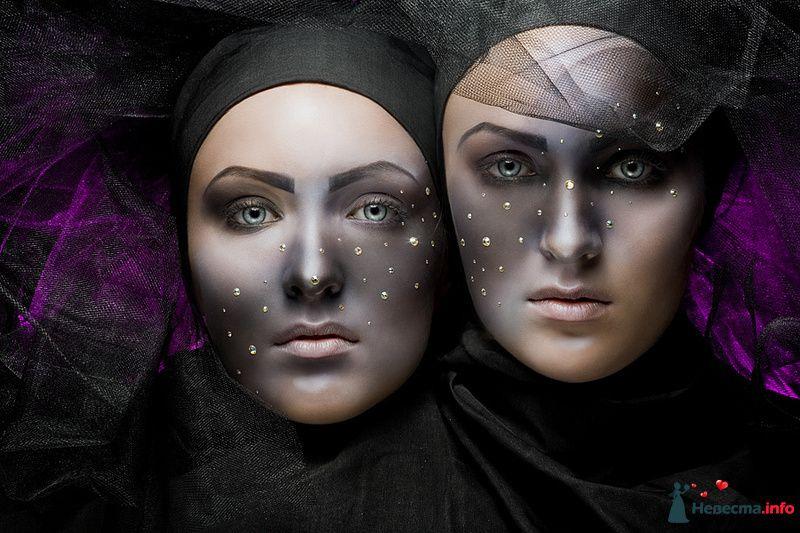 Фото 109950 в коллекции Творческие make-up работы - Хабарова Марина - прическа и макияж на свадьбу