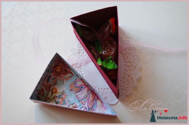 """Бонбоньерка """"Кусочек ягодного торта"""" - фото 110140 Ля Стиль - цветы и подарки"""