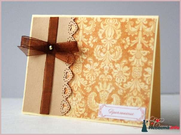 """Приглашение """"Шоколадная роскошь"""" - фото 111561 Ля Стиль - цветы и подарки"""