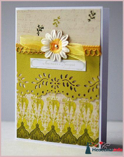 """Приглашение """"Весеннее"""" - фото 111564 Ля Стиль - цветы и подарки"""