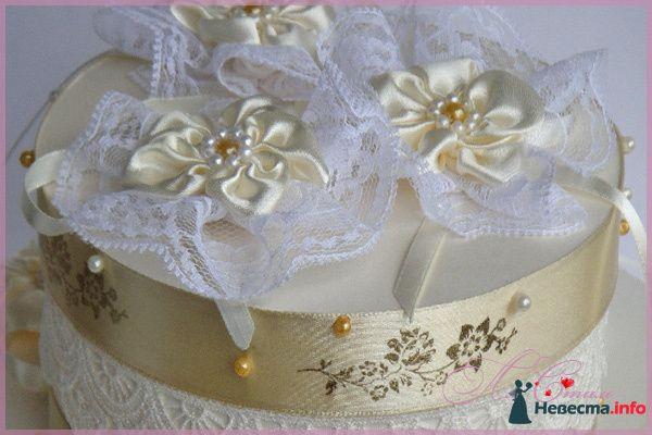 """Свадебная казна для денег Торт """"Очарование"""" - фото 124908 Ля Стиль - цветы и подарки"""