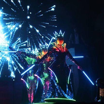 Световое лазерно-зеркальное шоу, 7 минут