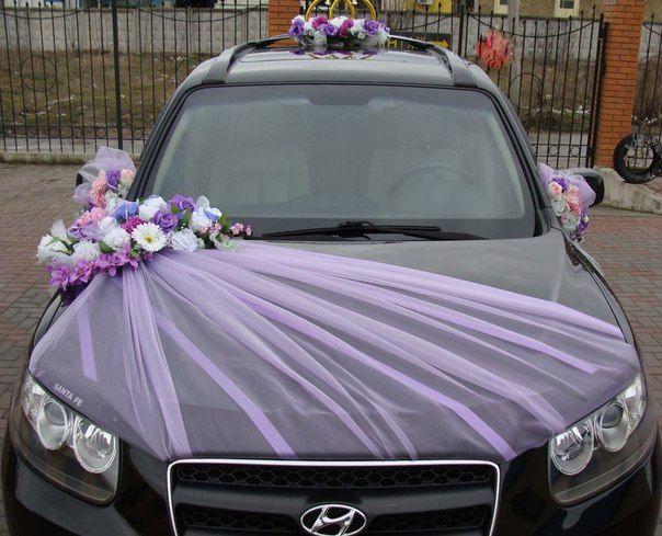 Как сделать свадебный бант на машину