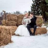 зимняя свадьба. фотосессия в стиле рустикпрогулка в стиле рустик