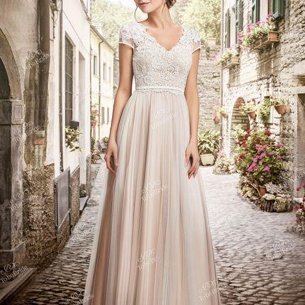 Свадебное платье с открытой спиной TB081