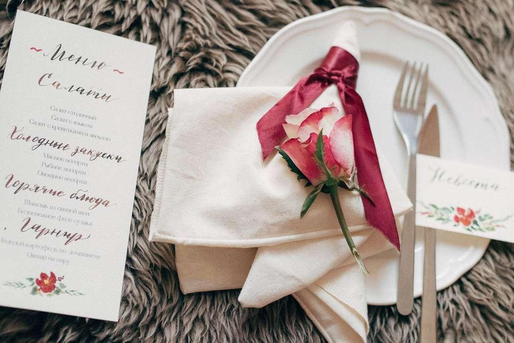 акварель, утро невесты, полиграфия, бордо, бордовый, марсала, marsala, розы, гвоздики, декор - фото 3993669 Фотограф Натали Малова