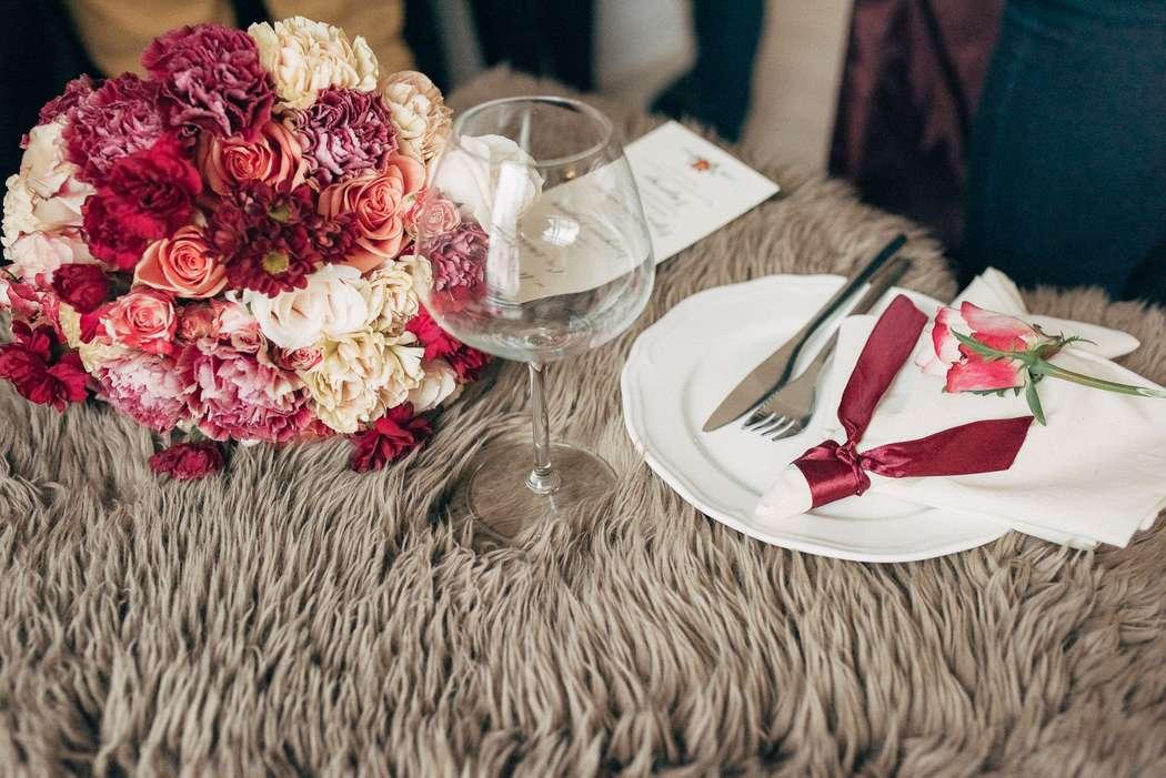 акварель, утро невесты, полиграфия, бордо, бордовый, марсала, marsala, розы, гвоздики, декор - фото 3993719 Фотограф Натали Малова