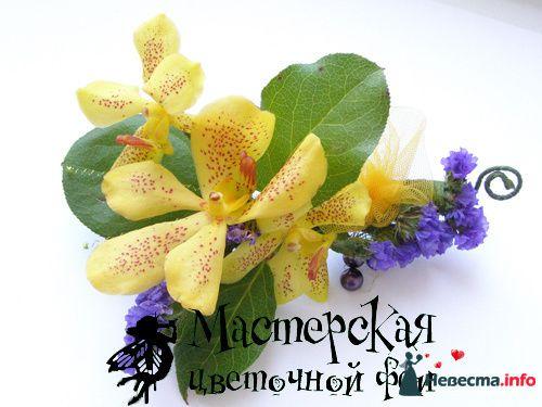заколка для волос - фото 121612 Мастерская цветочной феи - цветы