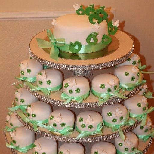 Торт с капкейками - фото 2798147 Иннэсса - свадебные торты из мастики