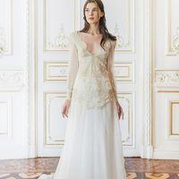 Свадебное платье с кружевным лифом