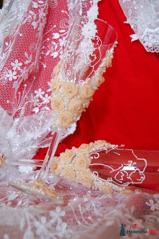 Фото 131072 в коллекции Свадебные бокалы с лепкой!!!! - Кетлин - свадебные бокалы