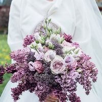 Букетик невесты из цветов сирени