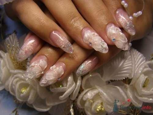 """Фото 10391 в коллекции Наращивание ногтей. Ногти на свадеьбу, торжество и на каждый день. - Студия свадебной моды """"Артрина"""""""