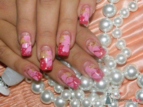 """Фото 10401 в коллекции Наращивание ногтей. Ногти на свадеьбу, торжество и на каждый день. - Студия свадебной моды """"Артрина"""""""