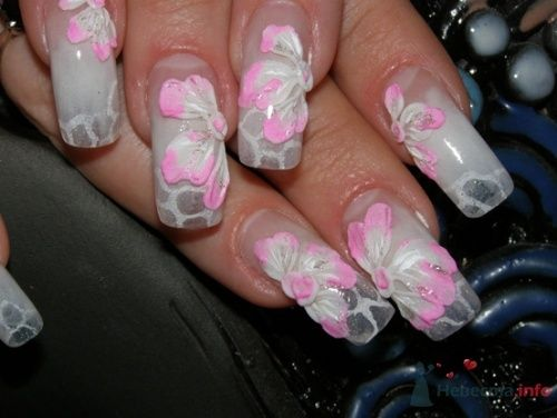 """Фото 10405 в коллекции Наращивание ногтей. Ногти на свадеьбу, торжество и на каждый день. - Студия свадебной моды """"Артрина"""""""