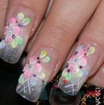 """Фото 10409 в коллекции Наращивание ногтей. Ногти на свадеьбу, торжество и на каждый день. - Студия свадебной моды """"Артрина"""""""