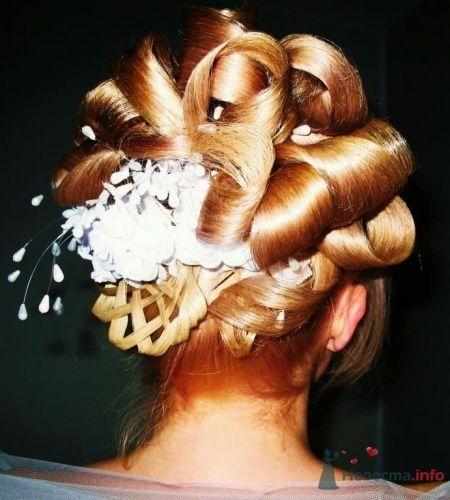 """Свадебная прическа 1 - фото 17724 Студия волос """"Монро"""""""