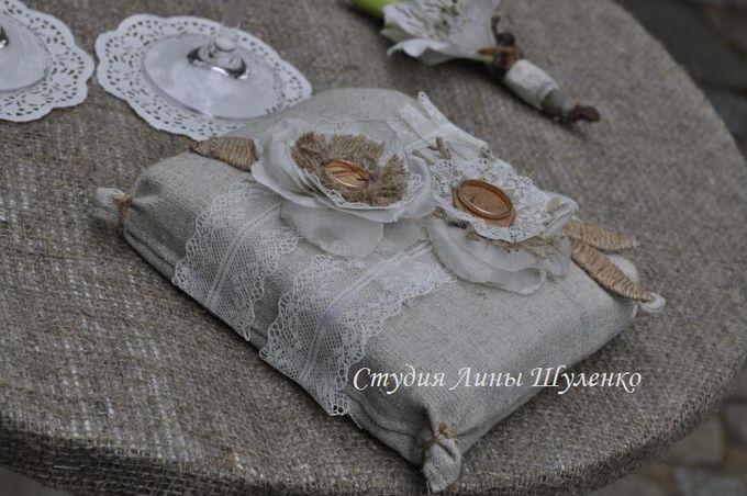 Подушечка для колец в стиле рустик. Рустикальная свадьба в Крыму.