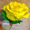 Роза из гофрированной бумаги 40 см, цена 300 руб.