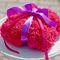 Подушечка для колец из розовых гортензий