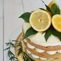Лимонный торт в стиле рустик