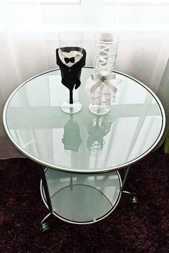 """Фото 1219309 в коллекции Свадебные бокалы в костюмах жениха и невесты - Свадебные бокалы """"в костюмах жениха и невесты"""""""