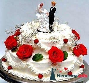 """Фото 128258 в коллекции Свадебные торты - """"Мир Любви"""" - студия свадебных услуг"""