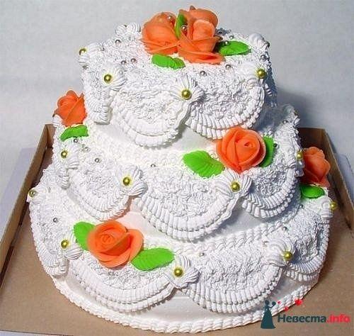 """Фото 128307 в коллекции Свадебные торты - """"Мир Любви"""" - студия свадебных услуг"""