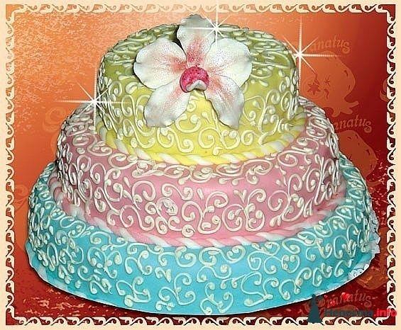 """Фото 128309 в коллекции Свадебные торты - """"Мир Любви"""" - студия свадебных услуг"""