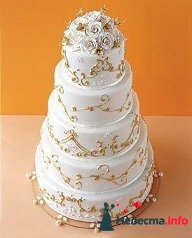 """Торт 065, Стоимость 1800 руб/кг - фото 128321 """"Мир Любви"""" - студия свадебных услуг"""
