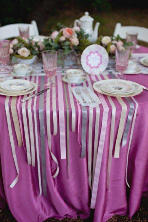 Ленты в декоре свадьбы