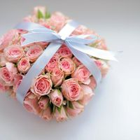 Подушечка для колец из роз