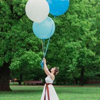 свадьба, воздушные шары, шоколад, парк, невеста