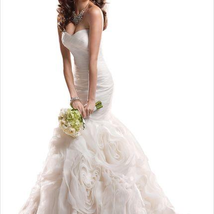 Свадебное платье Русалка большого размера