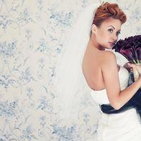 Свадебный букет: черные каллы