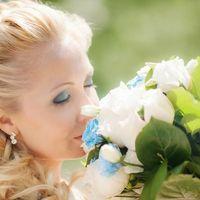 Прическа для невесты. Визаж в морском стилю по желанию клиентки ;)