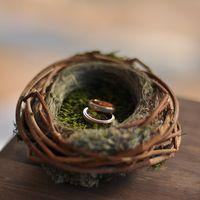 Гнёздышко для колец на свадьбе в стиле рустик