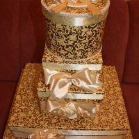 женский нишан, красивый, золотая бумага атласные банты