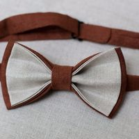 Галстук-бабочка коричневого цвета в сочетании с серым. Стоимость бабочки - 790р.  Чтобы заказать пишите в л.с.  или по т. +7 950 038 54 26
