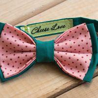 Галстук-бабочка зелено-розовая с горошком Стоимость 790р.  Чтобы заказать пишите в л.с.  или по т. +7 950 038 54 26