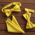 Желтый комплект: бабочка-бант, галстук-бабочка самовяз и платок. Стоимость комплекта - 2190р.  Чтобы заказать пишите в л.с.