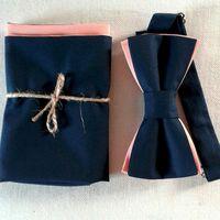 Комплект бабочка с платочком в сочетании темно-синего и персиковго цвета. Стоимость комплекта 1190 р.  Чтобы заказать пишите в л.с.  или по т. +7 950 038 54 26