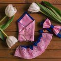 Свадебный комплект: галстук-бабочка синий с розовым, карманный платочек и подвязка! Стоимость комплекта - 2000р. Чтобы заказать пишите в л.с.