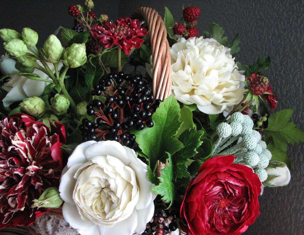 Цветы из полимерной глины. - фото 7938112 Олеся Галущенко - свадебные аксессуары